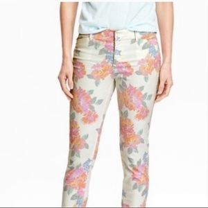 NWT White Floral Pixie Pants